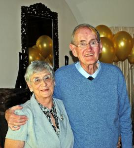 golden anniversary couple photo